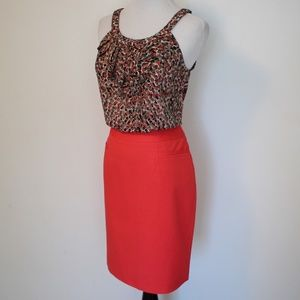 HALOGEN Size 2P Coral Pencil Skirt Career